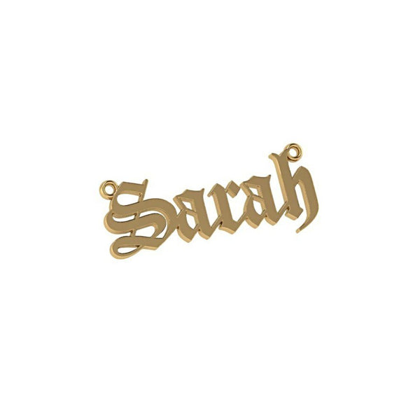 Personalized Name Necklace Sarah 14K Yellow Gold - Thenetjeweler by Importex