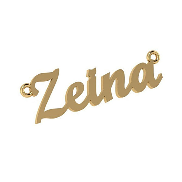 Personalized Name Necklace Zeina 14K Yellow Gold - Thenetjeweler by Importex