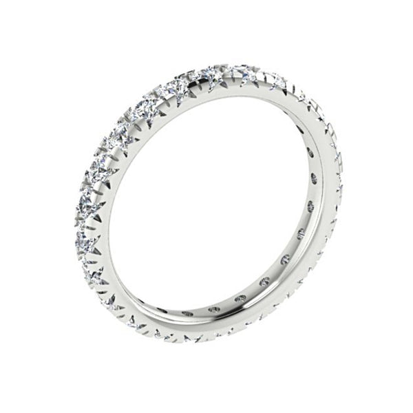0.85 cwt Diamond Eternity Ring Band 18K White Gold - Thenetjeweler by Importex