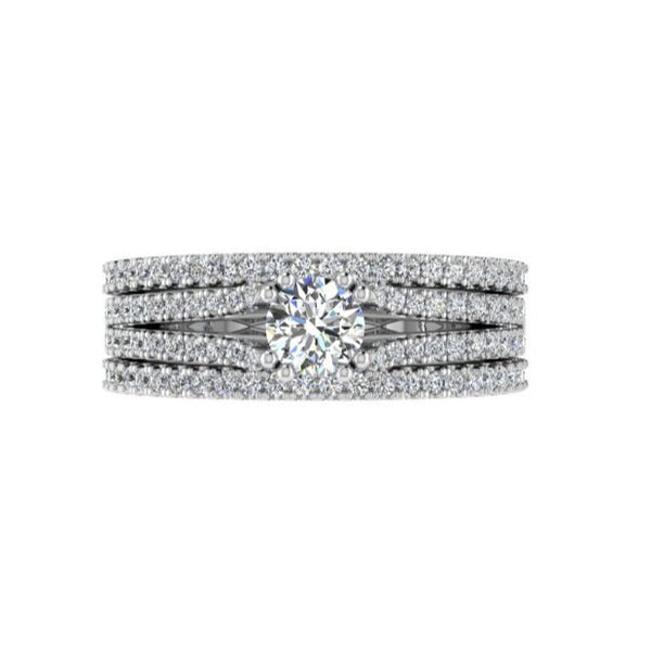 Half Eternity Bands with Engagement Ring