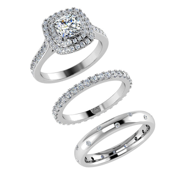 Eternity Bands with Engagement Ring