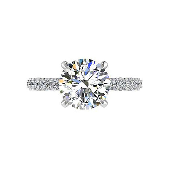 Diamond Basket 1 carat Engagement Ring - Thenetjeweler