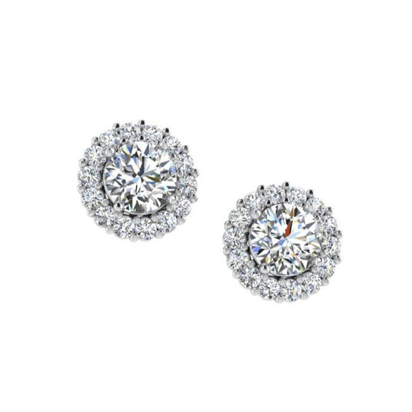 Halo Diamond Earrings Jackets - Thenetjeweler
