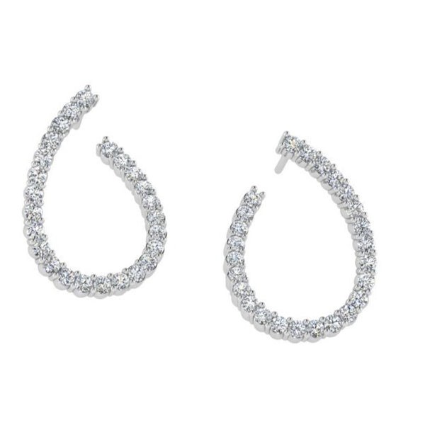 Open Diamond Stud Earrings 1.50ct