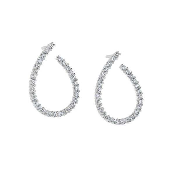 Open Diamond Stud Earrings 0.89ct