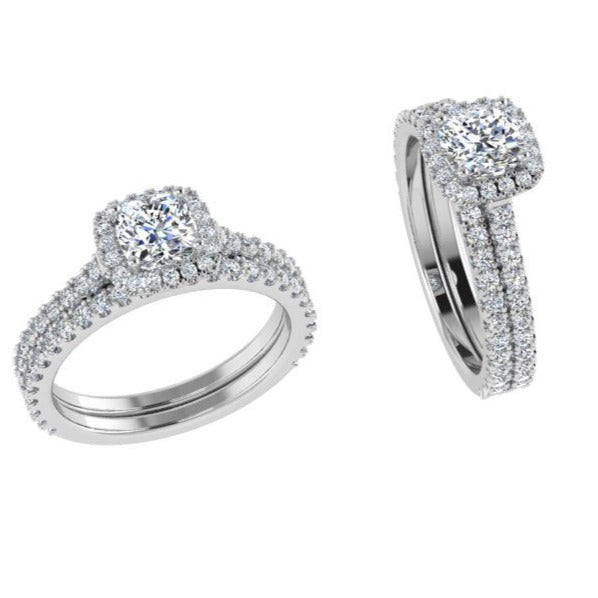 diamond engagement and wedding ring set