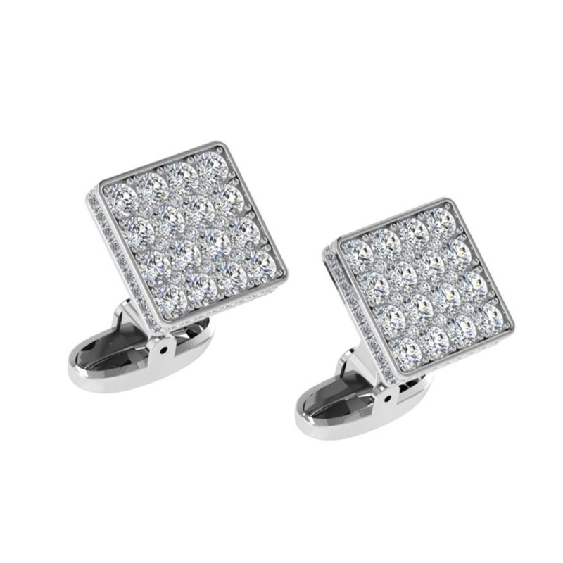Square Diamond Cufflinks 4.0 carat