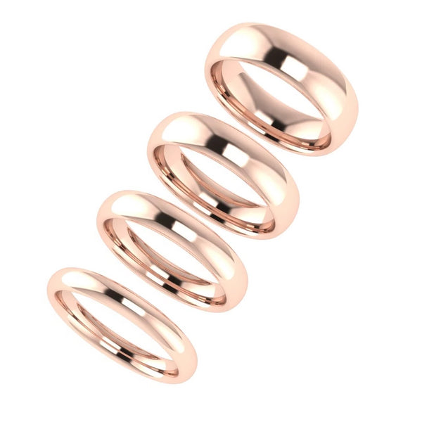 Comfort Fit Wedding Ring Rose Gold