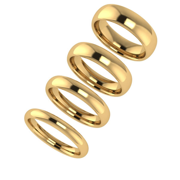 4mm Men's Wedding Ring Yellow Gold
