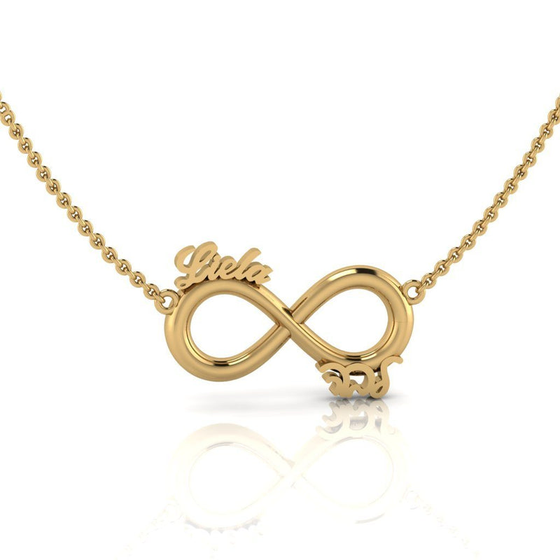 Personalized Infinity Name Pendant Necklace - Thenetjeweler
