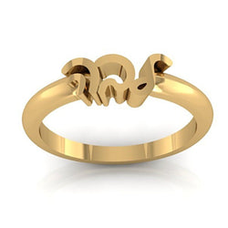 Personalized Name Ring 14K Yellow Gold - Thenetjeweler