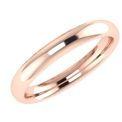 3mm Men's Wedding Ring Rose Gold Comfort Fit - Thenetjeweler