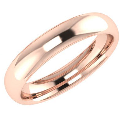 4mm Men's Wedding Ring Rose Gold Comfort Fit - Thenetjeweler
