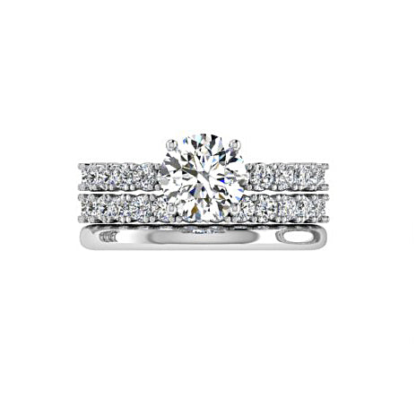 Matching Diamond Engagement and Wedding Rings - Thenetjeweler