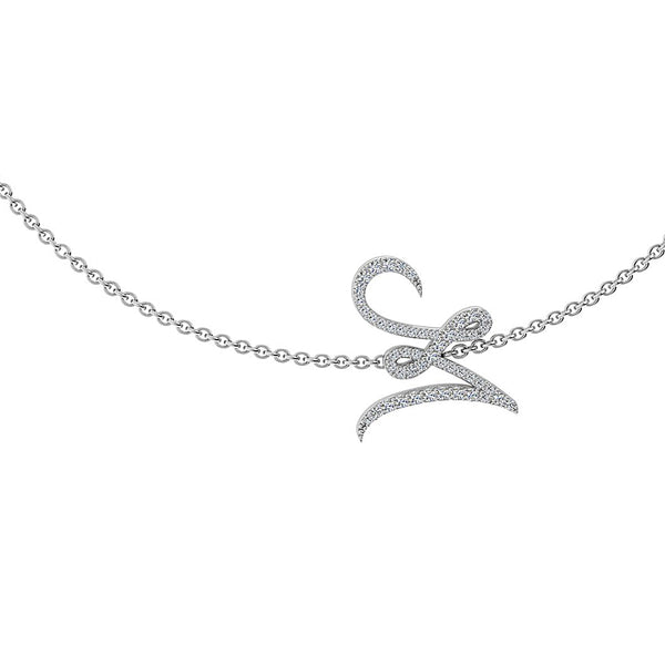 Diamond Script Initial Necklace