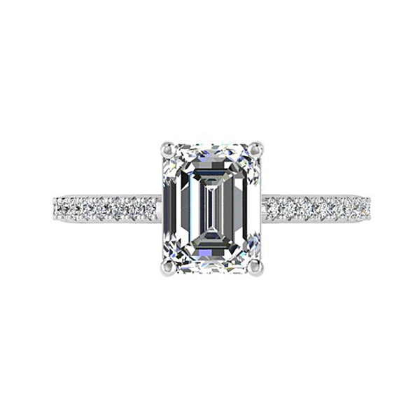 Emerald Cut Diamond Engagement Ring - Thenetjeweler