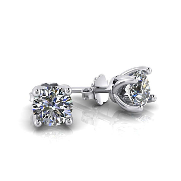 Diamond Stud Earrings Setting White Gold - Thenetjeweler