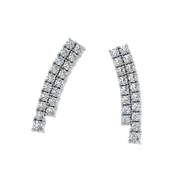 Diamond Double Row Earrings