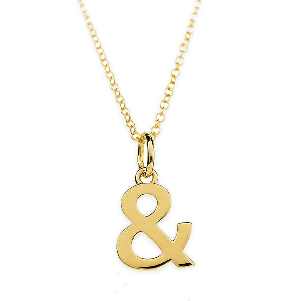 Tiffany & Co Ampersand Necklace 18K Yellow Gold - Thenetjeweler