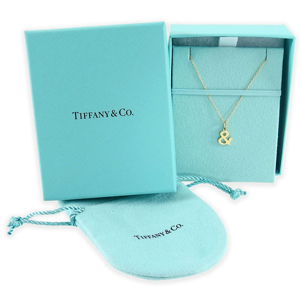 Tiffany & Co Ampersand Necklace 18K Yellow Gold
