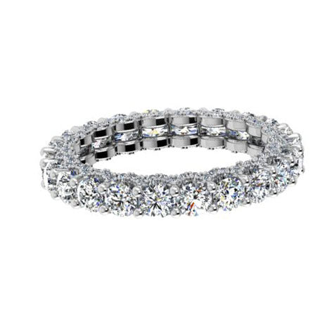 18k White Gold Diamond Eternity Band 2.75cts