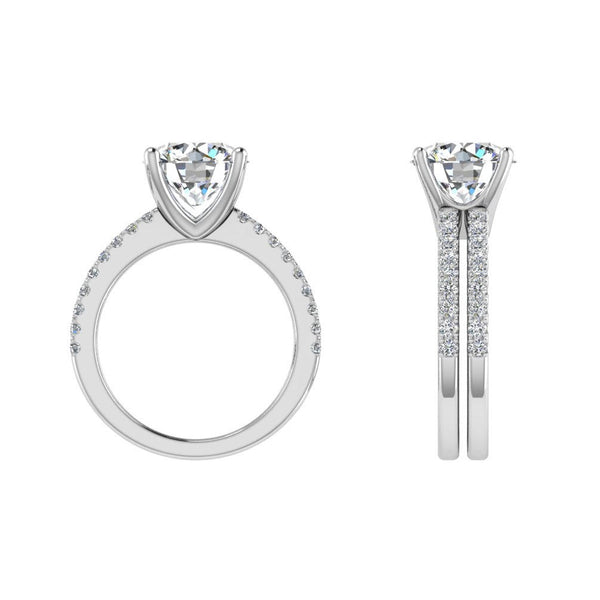 Round Diamond Ring Band Set - Thenetjeweler