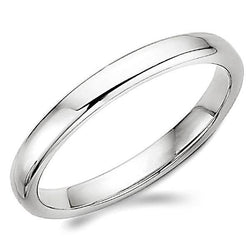 Traditional Men's Wedding Ring Platinum Band 3.0 mm - Thenetjeweler