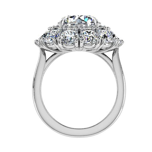 Double Halo Round Diamond Ring
