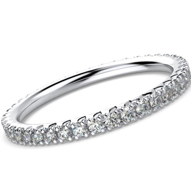Diamond Eternity Ring Band 18K White Gold (0.40 ct. tw.) - Thenetjeweler