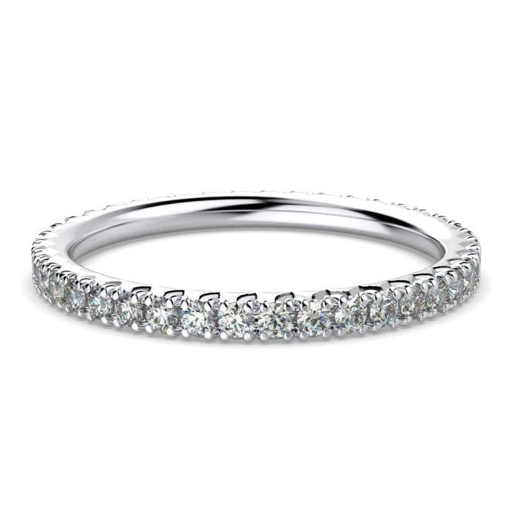 0.40 cwt Diamond Eternity Ring Band 18K White Gold - Thenetjeweler by Importex