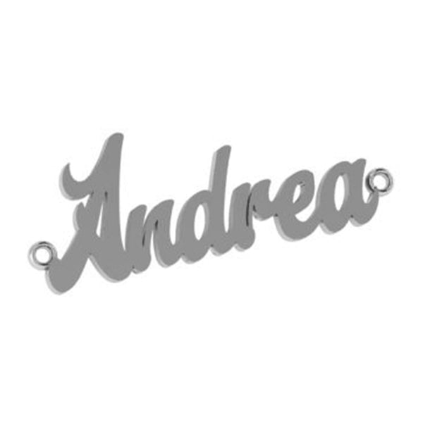 Personalized 14k gold Andrea name necklace