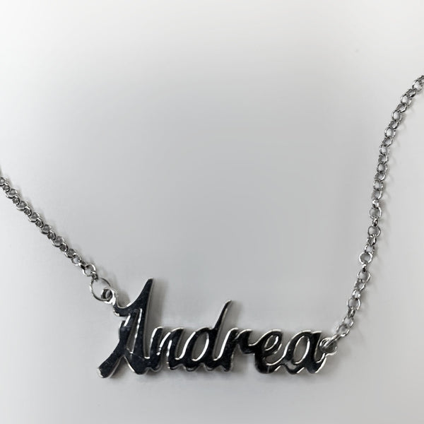 Personalized 14k gold Andrea name necklace - Thenetjeweler