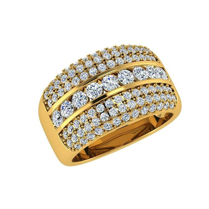 Chanel and Pavé Diamond Ring 18K Gold Band (1.23 ct.wt.) - Thenetjeweler