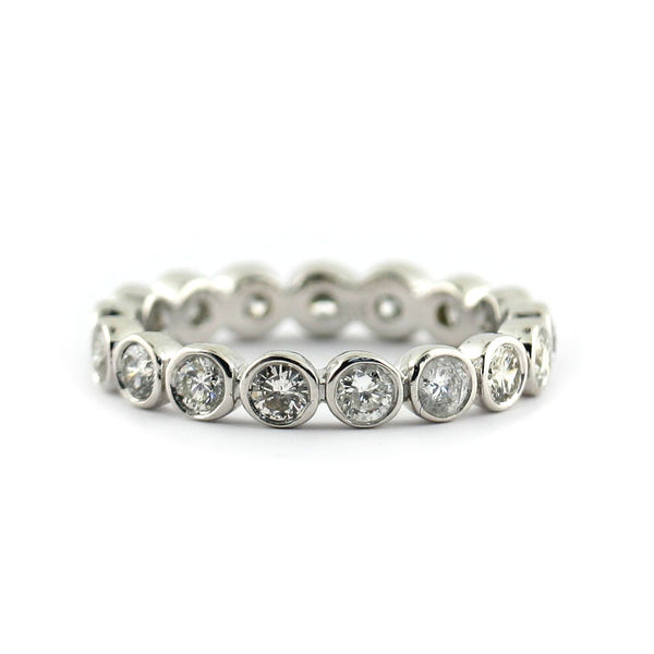 Bezel-Set Round Diamond Eternity Band