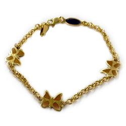 Butterfly Chain Bracelet 14K Yellow Gold - Thenetjeweler by Importex
