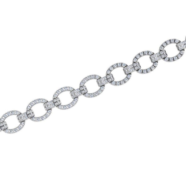 Diamond Link Bracelet 18K Gold (1.80 ct. tw) - Thenetjeweler