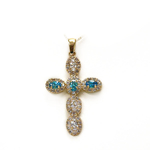 10k Yellow Gold Cross Pendant - Thenetjeweler