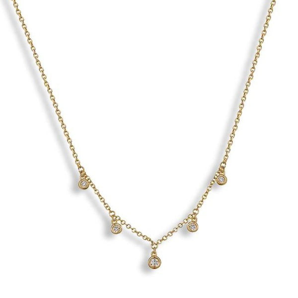 5 Dangling Diamonds Necklace