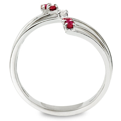 ruby and diamond ring white gold