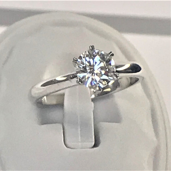 1 Carat Diamond Solitaire Ring Platinum - Thenetjeweler by Importex