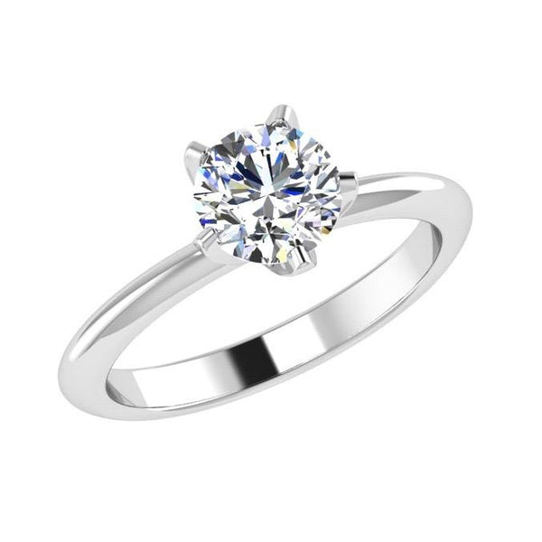 5 Prong Solitaire Diamond Engagement Ring 18K Gold - Thenetjeweler by Importex