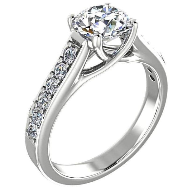 Engagement Ring - Round Cut Diamond Engagement Ring
