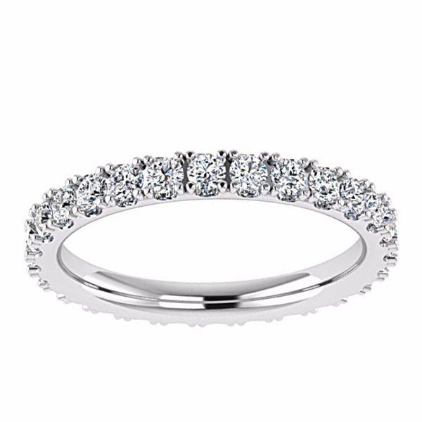 14K WHITE GOLD DIAMOND ETERNITY RING (0.80 CTW.) - Thenetjeweler by Importex