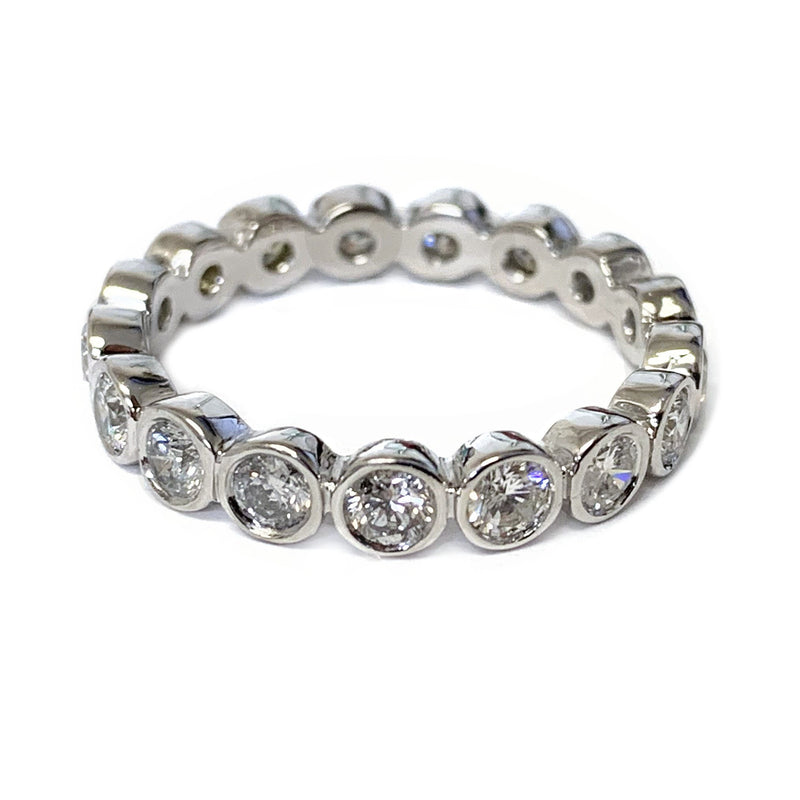 Bezel-Set Round Diamond Eternity Band - Thenetjeweler