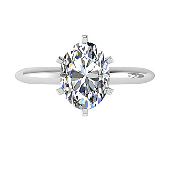 6 prong oval diamond ring