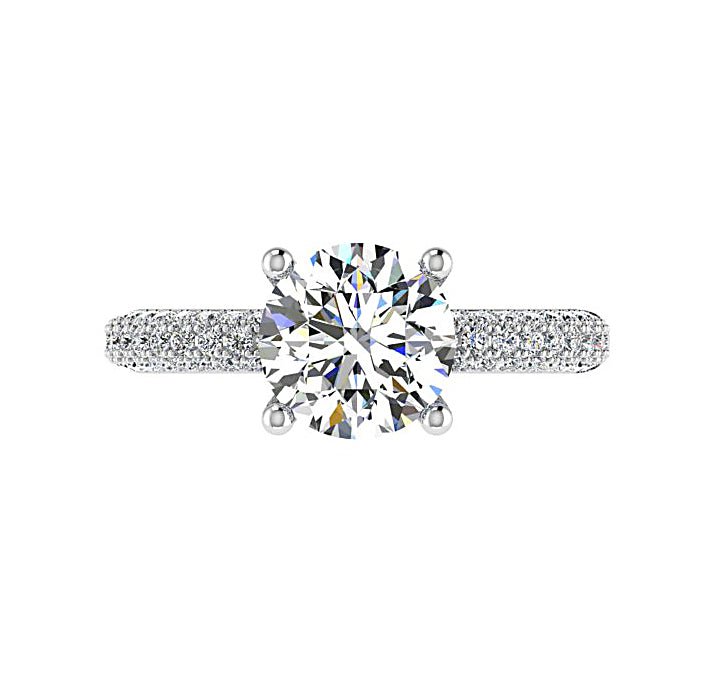 Diamond Engagement Ring with Side Stones (0.60 ct.tw) - Thenetjeweler