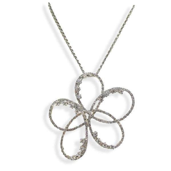 Diamond Flower Necklace 1.81 carats - Thenetjeweler