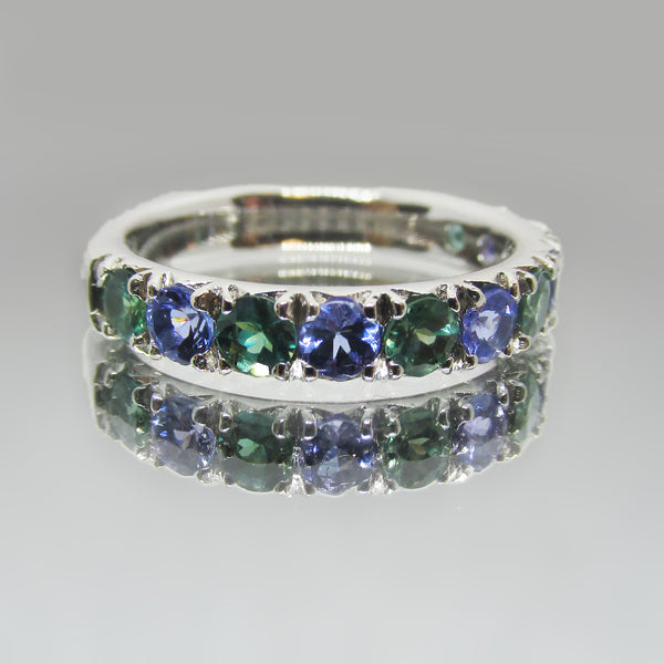 Half Eternity Gemstone Ring - Thenetjeweler
