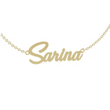 Personalized Name Necklace Gold Sarina