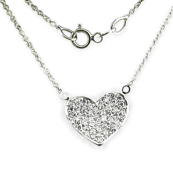 Diamond heart pendant necklace (1/2 ct. t.w.) - Thenetjeweler